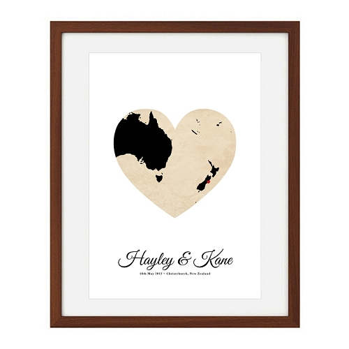 WEDDING HEART MAP