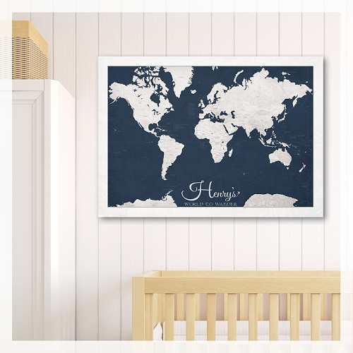KIDS WORLD MAP - Dark Blue